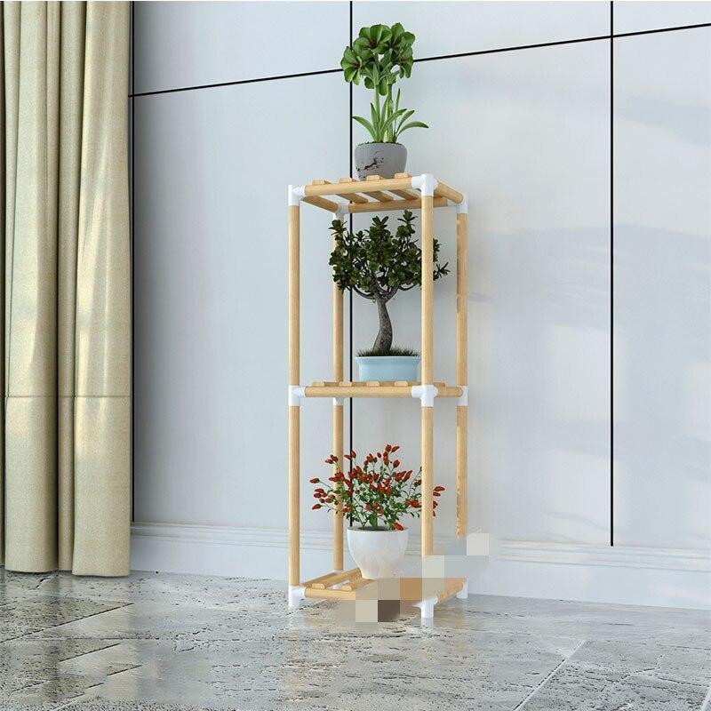 Airs Multi-storey Indoor Balcony Solid Wood Shelf A Living Room Flowerpot Shelves Landing Type Botany Frame