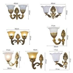 Image 5 - European Vintage Wall Lamp Retro Led Wall Light Living Room Home E27 Sconce Lamps Metal Bar Corridor Lighting Indoor Decoration