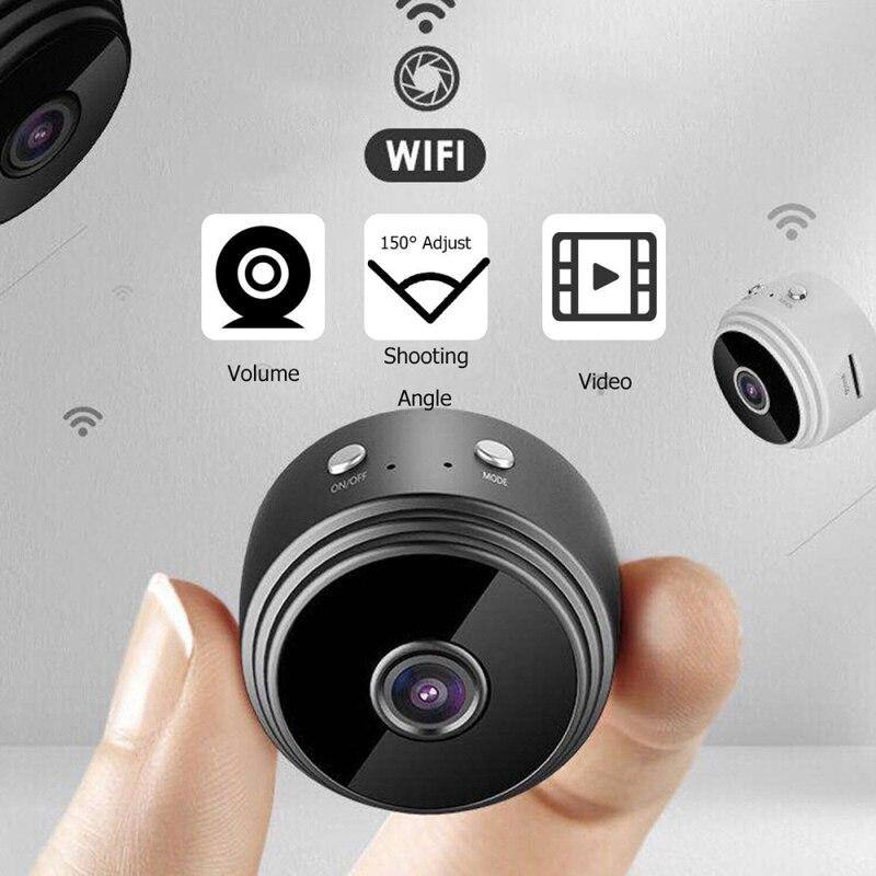 1080P/720P A9 Wi-Fi IP мини камера ночного видения беспроводная камера видеонаблюдения камера с датчиком записывающая видеокамера Домашняя безопас...