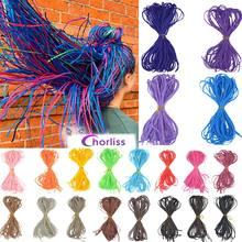 Chorliss, Зизи косы крючком коробка косы Цветной синтетические косички, волосы для наращивания на синий, серый, белый, красный, коричневый цвет с...