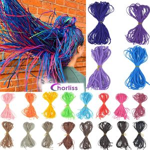 Chorliss Zizi Braids Crochet Box Braids Colored Synthetic Braiding Hair Extensions Blue Gray Brown Pink Blonde Crochet Hair 50g(China)