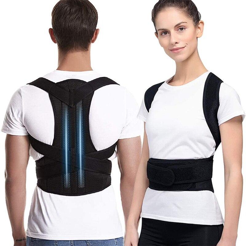 Corrector de postura para hombres y mujeres, soporte de clavícula para espalda, entrenador de espalda ajustable encorvado y hundido