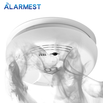 цена на ALARMEST 433MHZ Home Security Wireless Fire Smoke Detector Smoke Sensor Alarm For 433mHz Alarm System