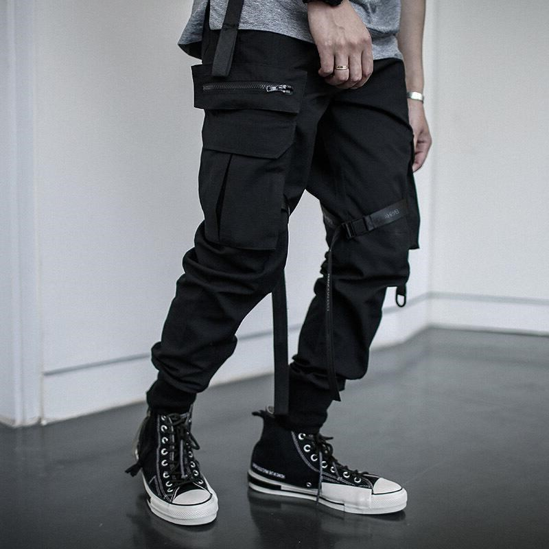 National Trends Autumn And Winter Trend Enshadower Snowfield Camouflage Workwear Fashion Man Pants Ribbon Multi-pockets Ankle Ba