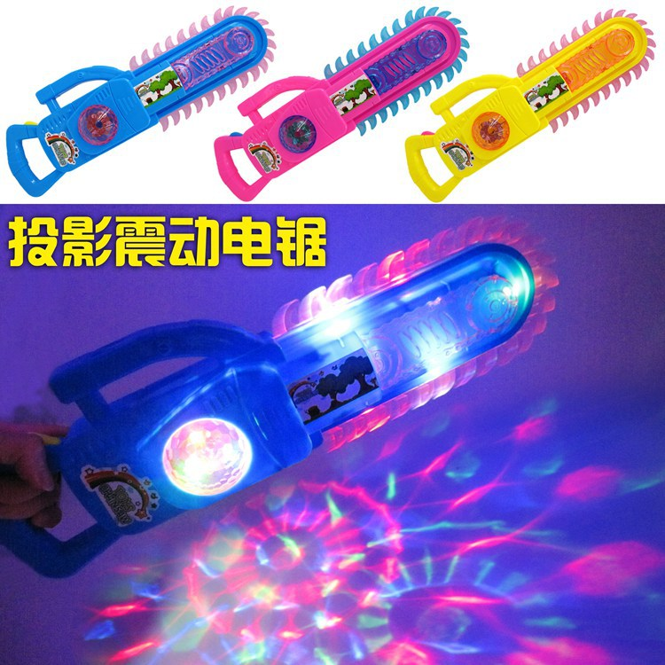 Shining Electric Saw Toy Cartoon Animal Sound-And-Light Bald Strong Electric Saw Vibration Toy