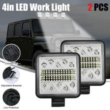 цена на 2pcs Car roof headlights 102w LED Work Light 12v/24v for Off Road Truck Bus Boat Fog Light Car Light Assembly fog lights bright