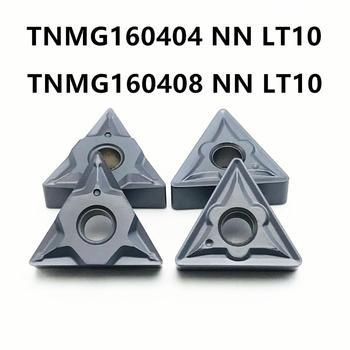 10PCS carbide insert TNMG160404/TNMG160408 NN LT10 high quality internal turning CNC lathe tool TNMG 160404/08 cutting tool ccmt060204 nn lt10 cnc blade carbide insert inner turning tool lathe tool insert turning milling cutter