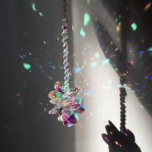 Aurora Borealis Crystal Suncatcher Window Hanging Feng Shui Healing Prism Sun Catcher Rainbow Maker Home Garden Decor