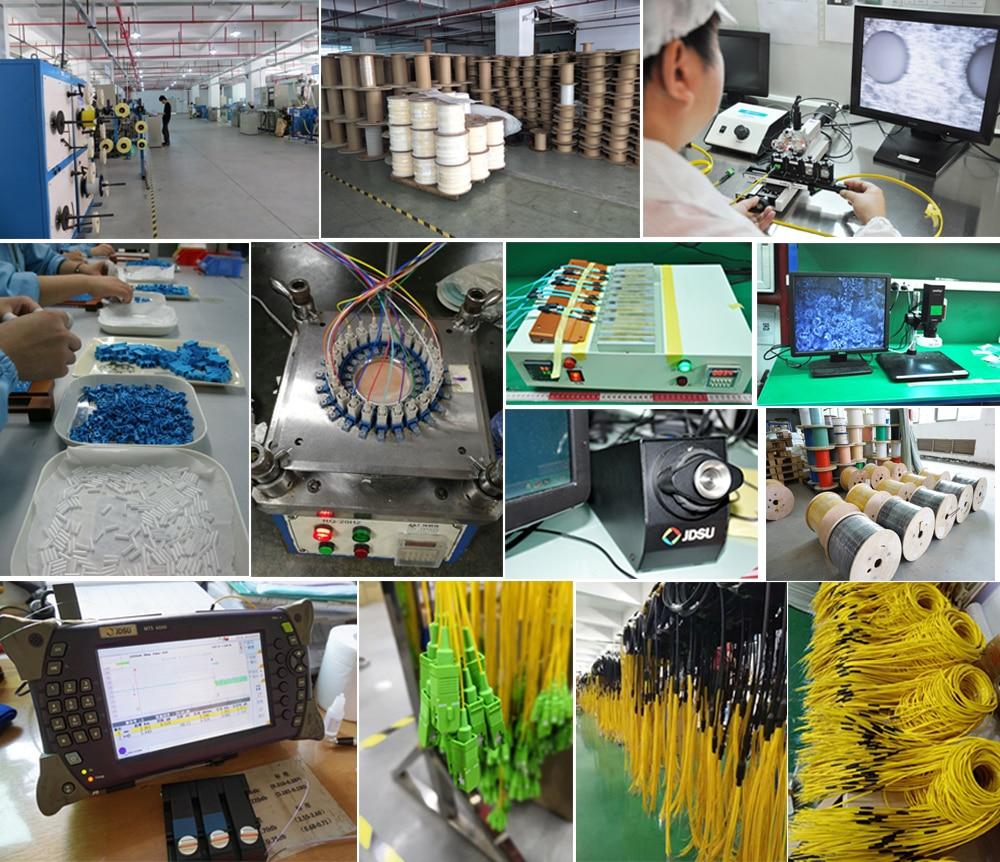 12 цветов SC/APC Одномодовый SM OS2 G652D, G657A1, G657A2 0,9 мм 1 м 1,5 м 2 м волоконно-оптический косичка LSZH желтый