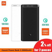 Original Xiaomi Mi  20000mA Power Bank 5V 2A Dual USB Ports Fast Charging Portable Universal Powerbank External Battery Pack цена 2017
