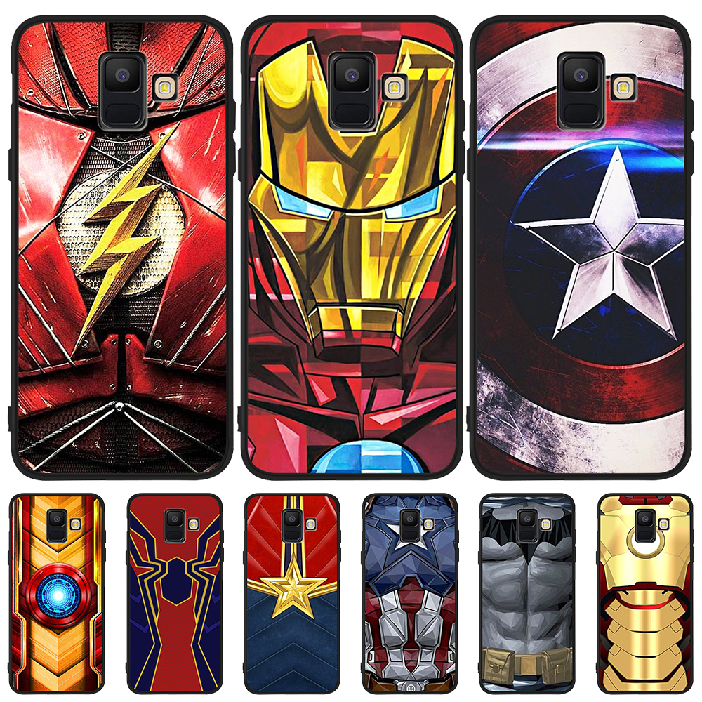 silicone Marvel Avengers For Samsung Galaxy A9 A8 A7 A6 A5 A3 J3 J4 J5 J6 J8 Plus 2017 2018 M30 A40S A10 A20E phone Case Cover image