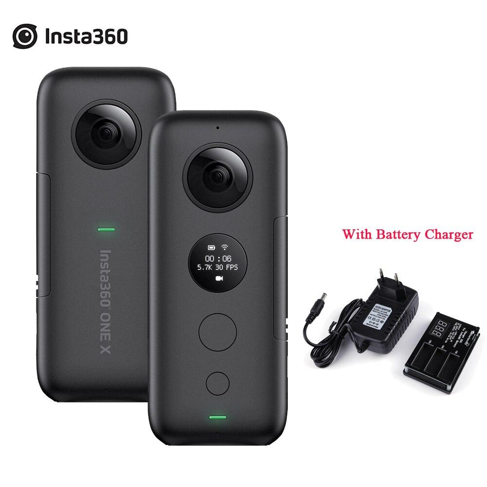 Insta360 ONE X 5.7K vidéo 18MP HDR stabilisation caméra d'action panoramique avec Charge de batterie 3 en 1 pour iPhone iPad Android