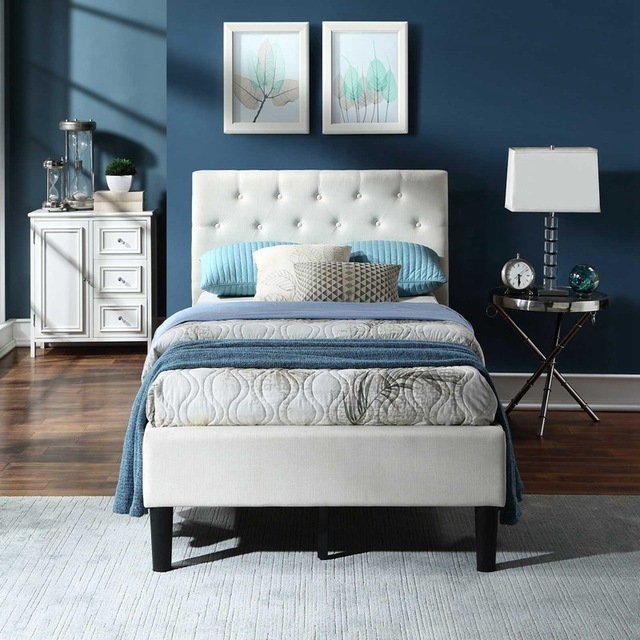 Twin Size Upholstered Bed Frame  4