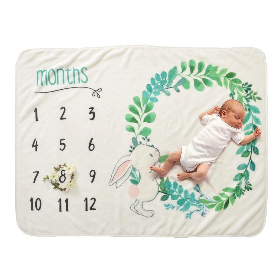 19 стильных детских ежемесячных одеял для девочек и мальчиков с цветочными крыльями, рамка для новорожденных, фон для фотосессии, фланелевый Рождественский олень - Цвет: Type 2