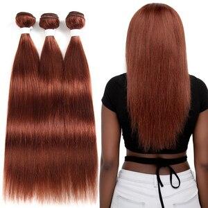 Image 5 - 99J/Bordeaux Rood Gekleurde Human Hair Weave Bundels Met Kant Sluiting 4x4 Braziliaanse Straight Non remy haar Inslag Extensions X TRESS