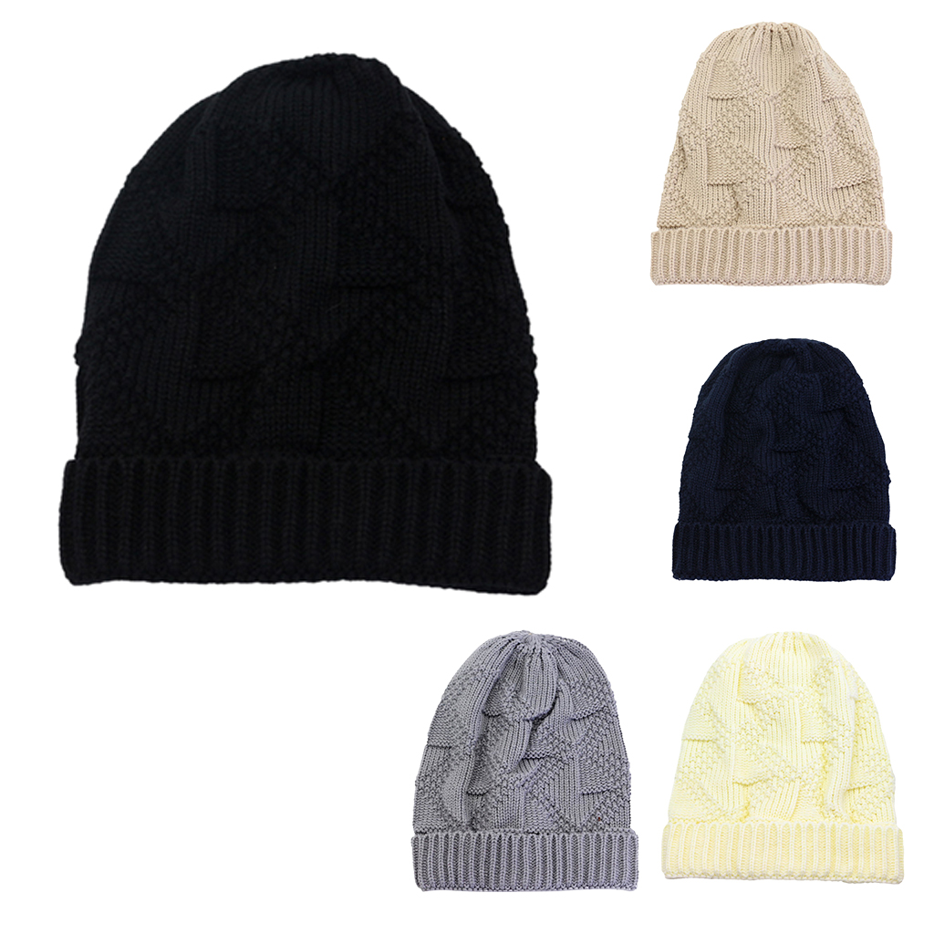 Winter Warm Stylish Slouchy Soft Cable Knit Beanie Hats Stretchy Unisex Chunky Skull Cap Fit Ski for Women Men