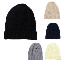 Winter Warm Stylish Slouchy Soft Cable Knit Beanie Hats Stretchy Unisex Chunky Knit Skull Cap Fit Skull Ski Cap for Women Men купить дешево онлайн