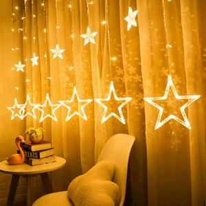 Novelty Led lights for Bedroom christmas Wedding Decoration Home LED Lamp Moon Star Holiday Fairy Curtain Hanging Night Light