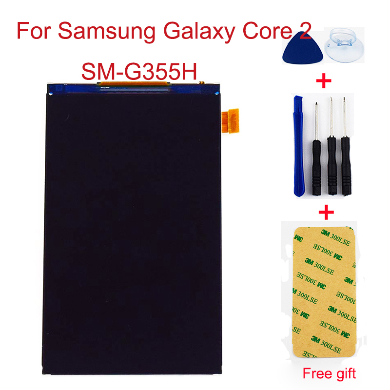 For Samsung Galaxy Core 2 SM-<font><b>G355H</b></font> <font><b>G355H</b></font> G355 LCD <font><b>Display</b></font> Panel Monitor Module Replacement without touch screen sensor image