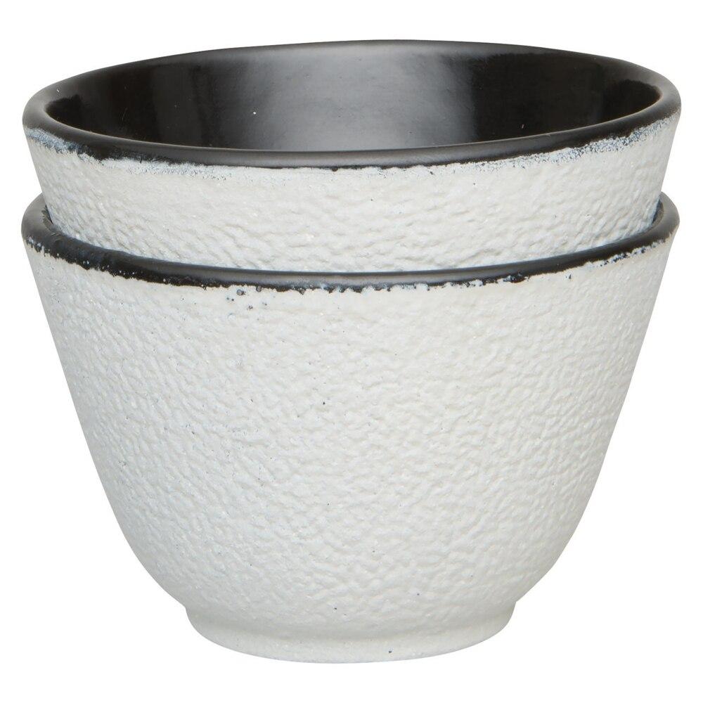 Set of 2pcs bowls cast iron (white) ...
