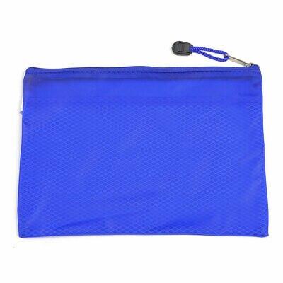 24 X 17cm Mesh Designed PVC Pen File Bags Folder Blue