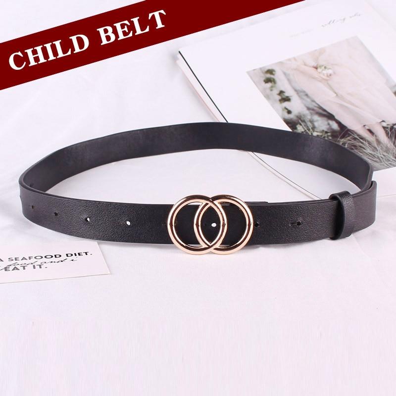 Child Belt Jeans Belt Round Buckle Pin Buckle Girl Boy Fashion Belts Decorate