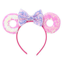 Frauen Mädchen Party Decor Headwear Foto Prop Halloween Phantasie Kleid Cute Cartoon Tier Ohr Stirnband Shiny Pailletten Bowknot Haar Hoop(China)