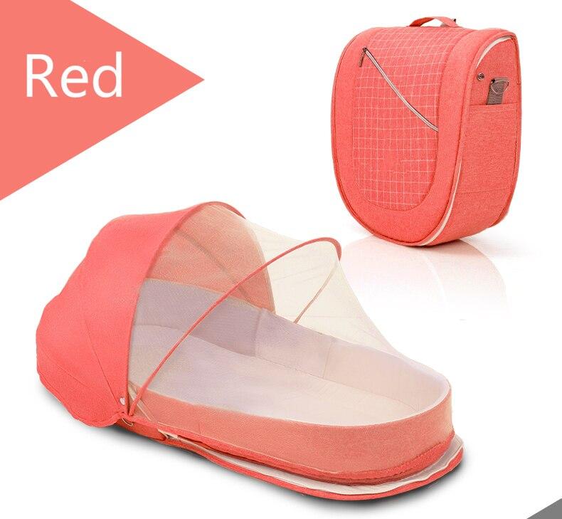mosquiteiro portátil bassinet bebê dobrável respirável anti-pressão infantil cesta de dormir