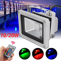 10W RGB LED  Flood Light Colorful Changing Wash Wall Mount Spot Light 900LM Remote Control Waterprof Beam Angle 120 Degree