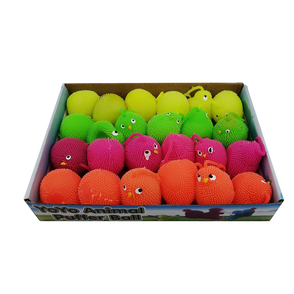Toys For Children Boys Kids Toys 6CM Novelty Flashing Chickens Squidgy Sensory Anti Stress Toy Activity And Play Ball