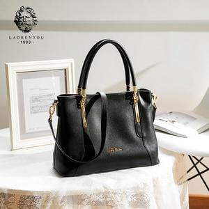 Image 2 - Laorentou mulheres topo bolsas de luxo senhora couro bolsa casual totes bolsas femininas crossbody bolsas de ombro bolsa feminina