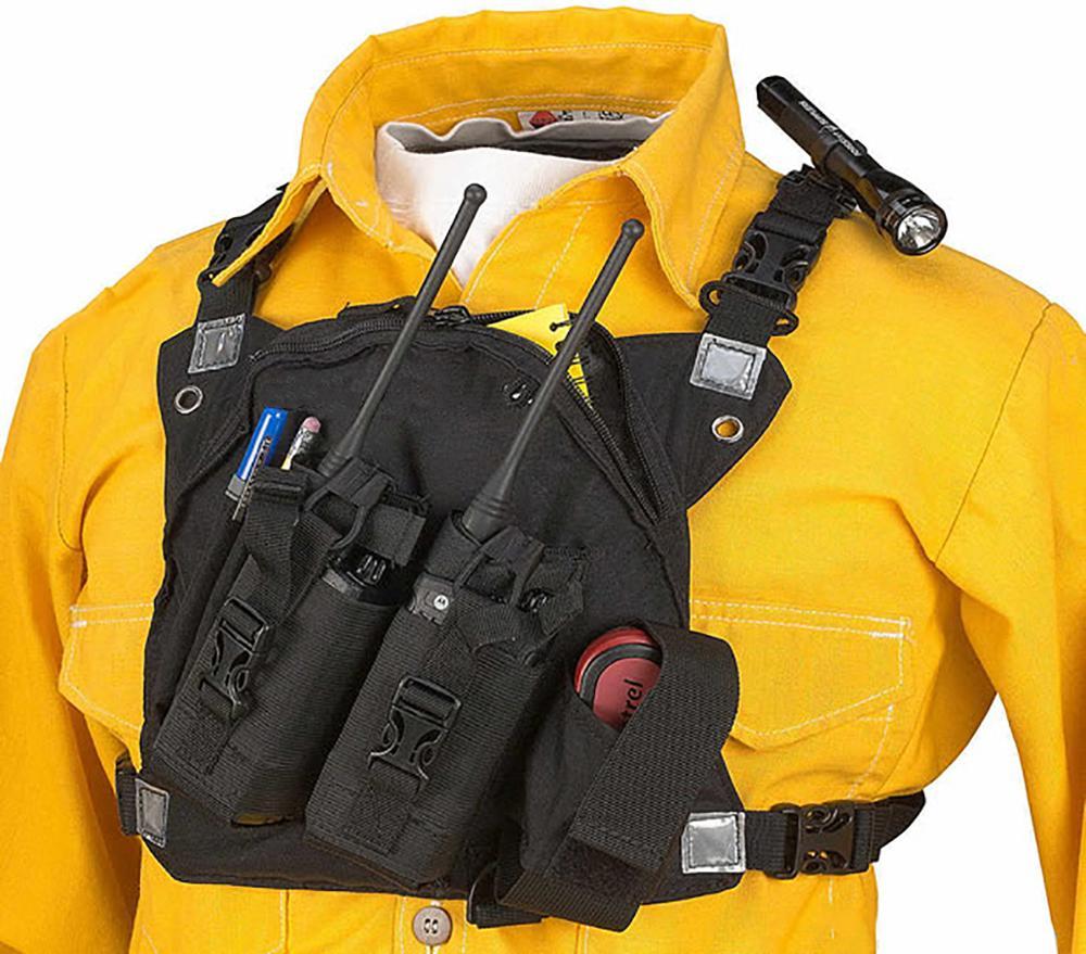 ABBREE Hands Free Chest Harness Bag Holster for Baofeng UV-5R TYT WOUXUN Motorola Yaesu Walkie Talkie (Rescue Essentia