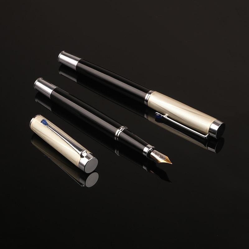 1pc de alta qualidade negocio caneta fonte presente caneta tinta de metal estudante escola caneta padrao