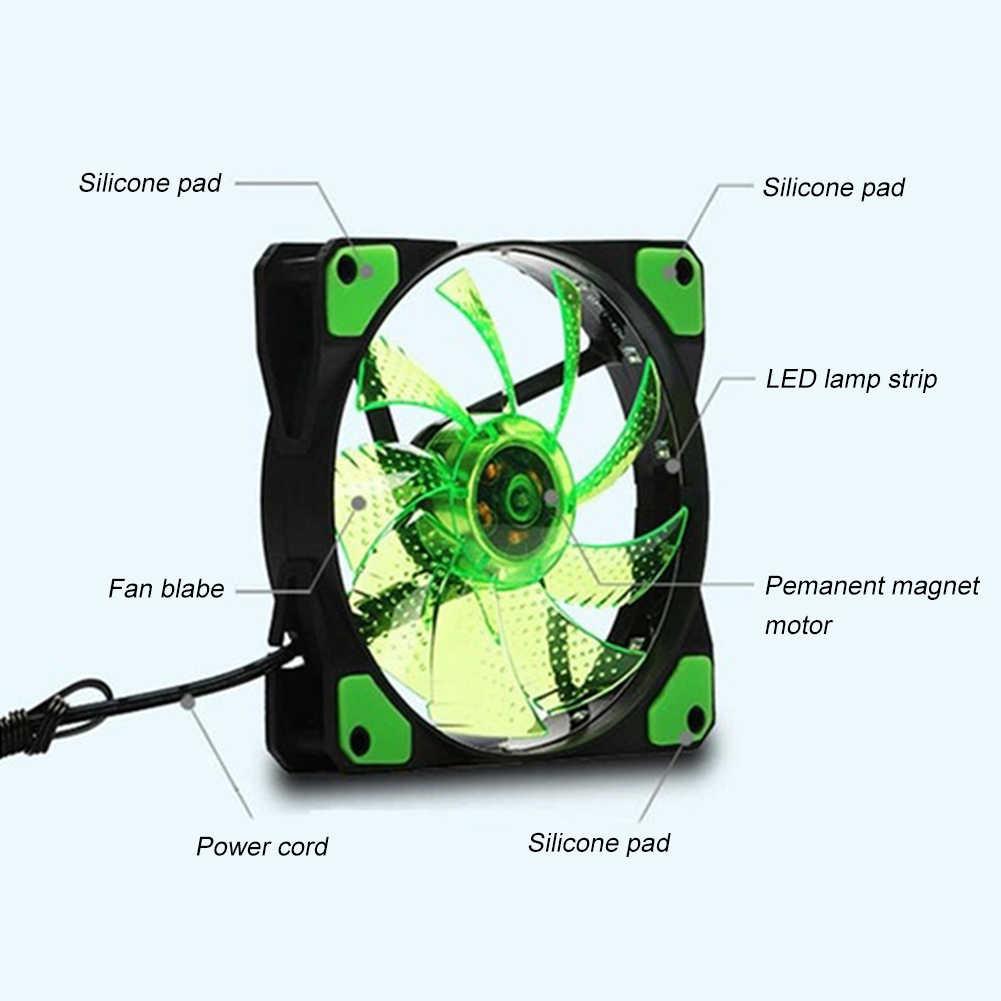 La computadora de la PC caso ventilador de enfriamiento ventilador 120mm disipador de calor enfriador 18dB 4 Pin, 3 Pin, líquido teniendo LED ordenador ventilador de refrigeración de DC12V
