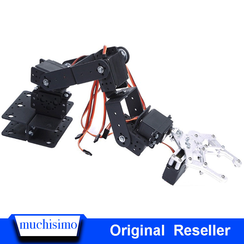 6 DOF Robot Manipulator Metal Alloy Mechanical Arm Clamp Claw Kit MG996R For Arduino Robotic Education Metal Alloy Arm