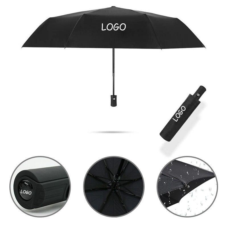 Business Affairs Automatic Umbrella Windproof For Toyota Camry Prius Venza Prado Land Cruiser Highlander Car Logo Accessories