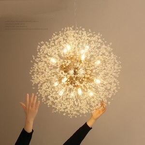 Image 2 - Spark Ball โคมไฟระย้า LED Dandelion โคมระย้าห้องรับประทานอาหารห้องนั่งเล่นบาร์บุคลิกภาพ Creative Art โคมไฟคริสตัล