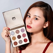 9 Color Flash Matte Eye Shadow Palette Waterproof Anti-fouling Long-lasting Easy To Apply Luminous Tray