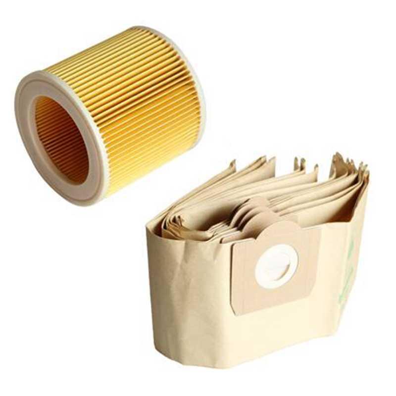 Poonkuos 2PCS Polvo Filtrar Bolso para Karcher Aspiradora A2204//2656//WD3200//3300 Reemplazo Lavable Cloth Polvo Filtro Bolso Pouch Accesorio