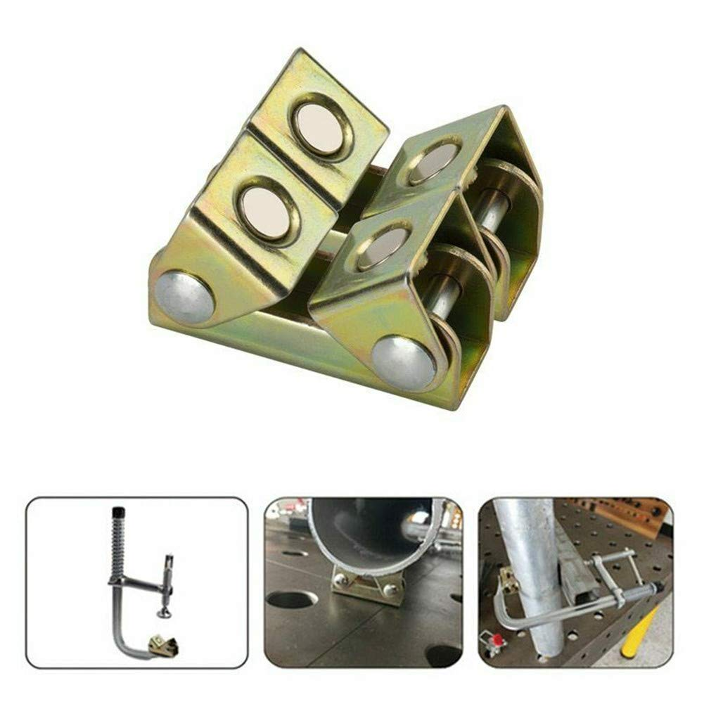 2pcs Magnetic V-Clamp Holder Magnetic Welding V-Clamp Adjustable Clamp Holder Strong Hand Tool V-Type Fixture