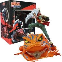 Naruto shippuden anime figura jiraiya gama-bunta pvc figura de ação coleção modelo de brinquedo para crianças presentes vem com caixa