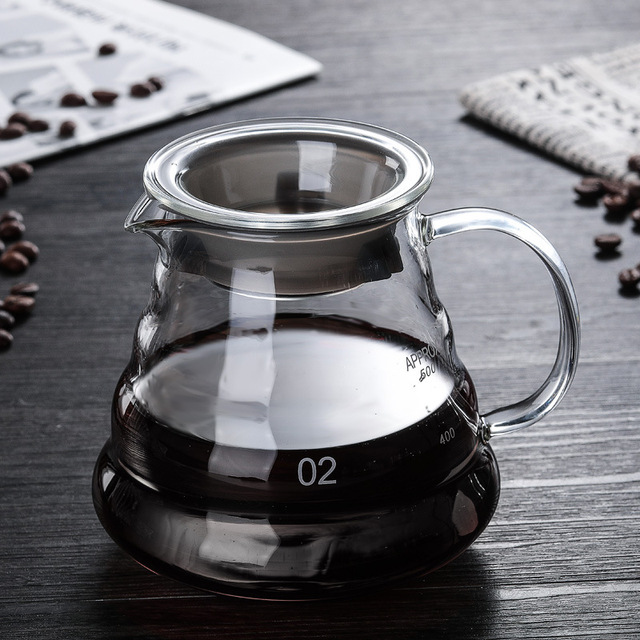 أداة صنع القهوة V60  مع أبريق القهوة ومرشحات الترشيح 3