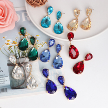 TOYOOSKY good quality Crystal Drop earrings women crystal vintage statement Earrings for jewelry 2020 summer