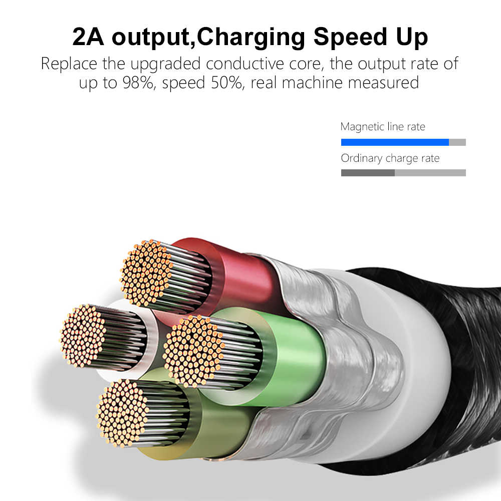 Marjay المغناطيسي نوع C كابل لسامسونج A50 سريع تهمة المصغّر usb كابل ل شاومي هواوي المغناطيس شاحن سلك USB آيفون 7
