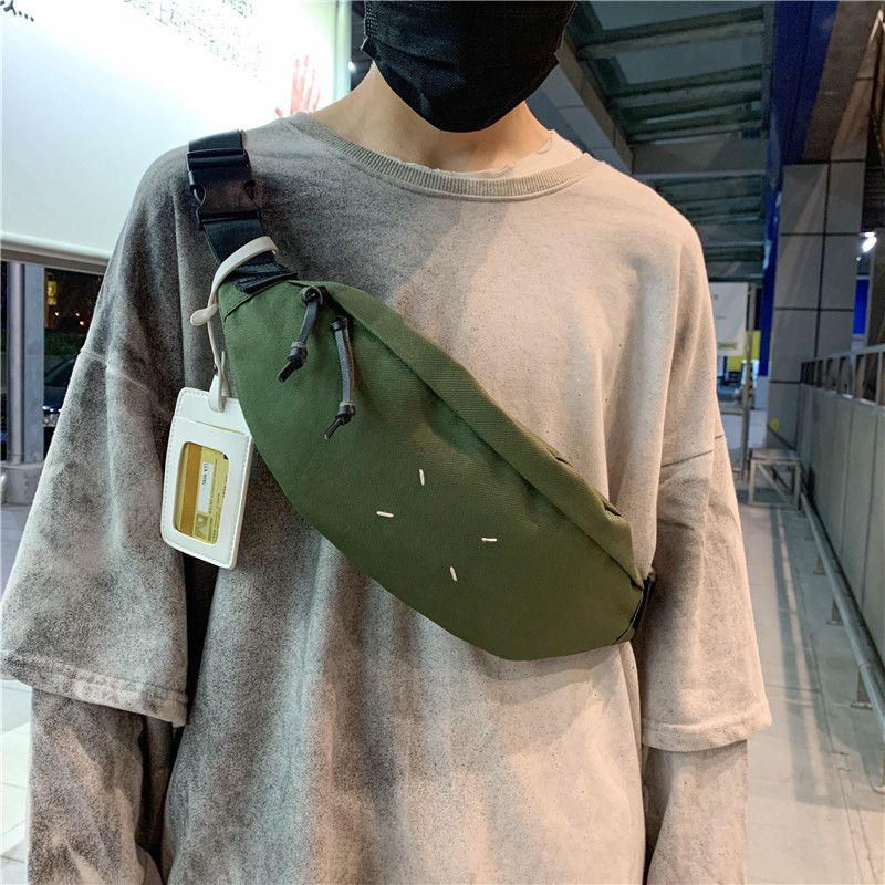 Canvas Waist Pack For Men Women Fanny Pack Style Bum Bag Women Money Belt Travelling Phone Bag Unisex Waist Bags