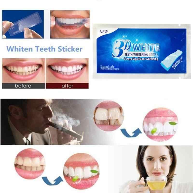 חם 2 יח'\שקית 3D שיניים מתקדמות הלבנת רצועות לבן ג 'ל היגיינת פה שיניים ניקוי יבש שיניים הלבנת רצועת יומי להשתמש TSLM2
