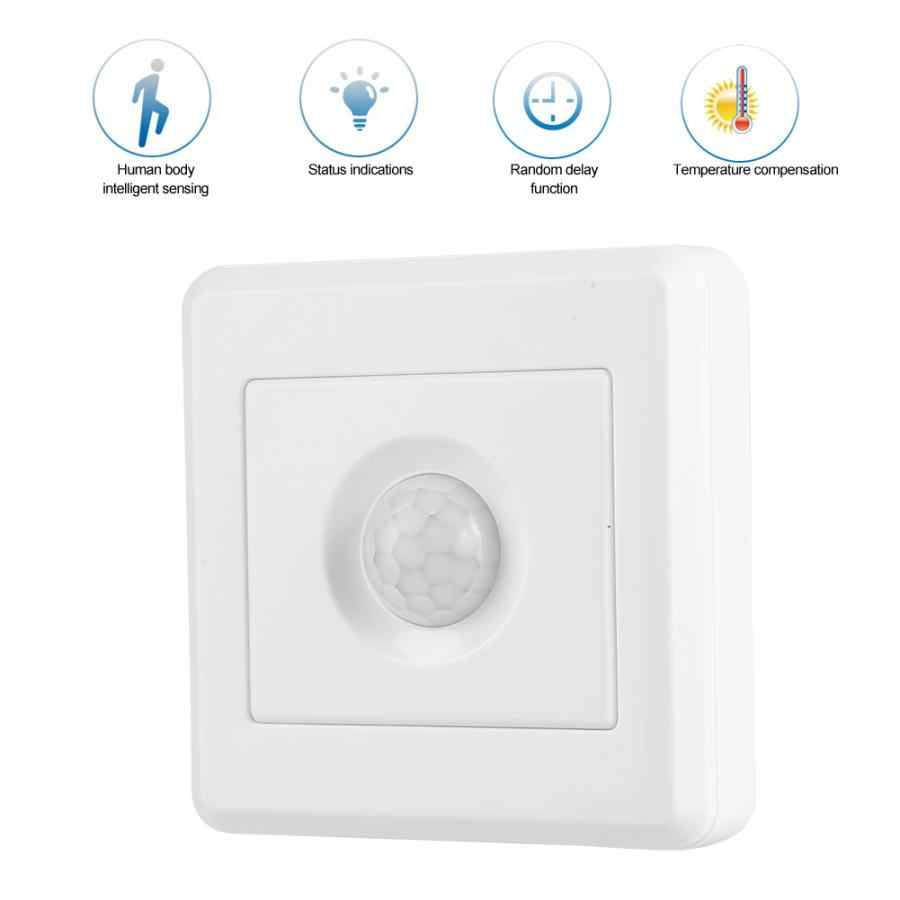 110-240V 800W Body Motion Sensor PIR Detektor Inframerah Kontrol Koridor Tertanam Smart Switch