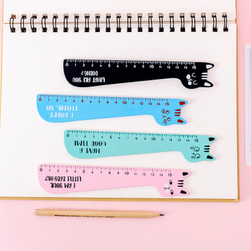 Cat Ruler Kawaii Accessories Cute Ruler Novelty Stationery Patchwork Ruler Cartoon Cute Set of Drafting Rules School Supplies