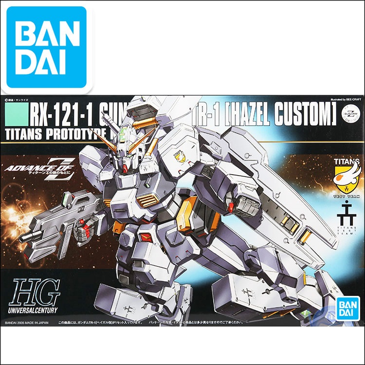 Original Gundam HG 1/144 Model RX-121-1 HAZEL CUSTOM TR-1 Mobile Suit  Kids Toys