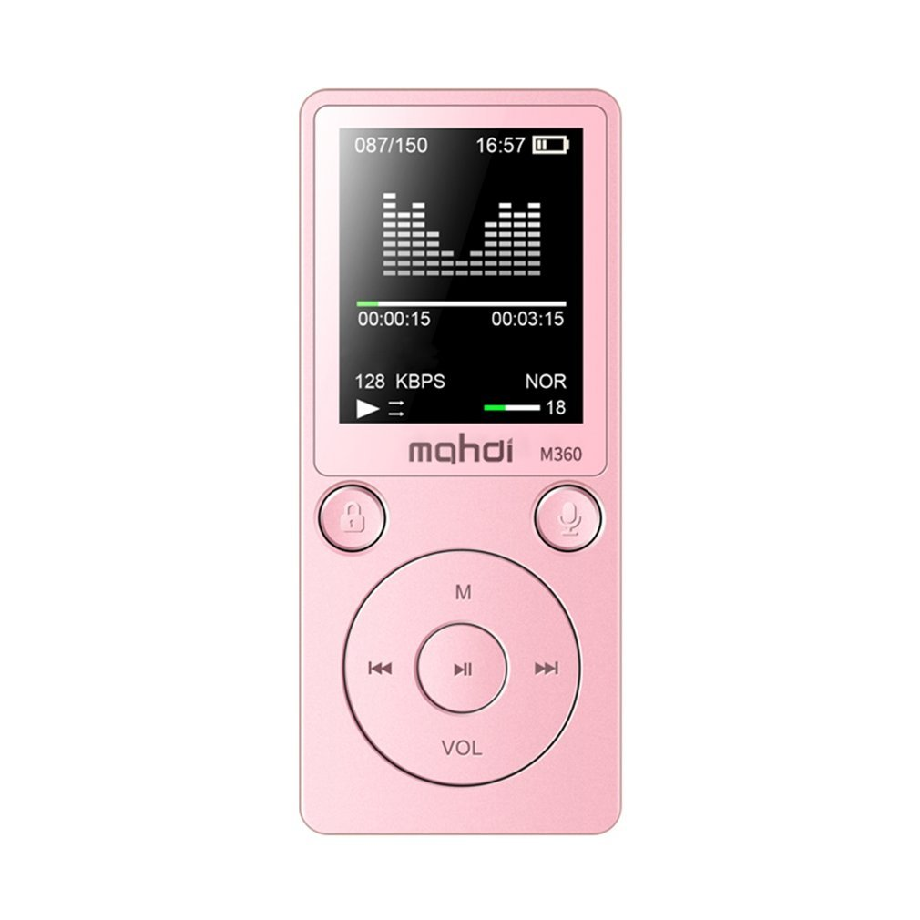 8GB1.8-Inch Multi Function MP3 Card Touch Player HIFI Music Player Stereo Loud Speaker Metal Sports Music Player Support TF Card